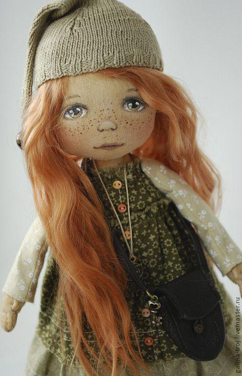 Коллекционные куклы ручной работы. Ярмарка Мастеров - ручная работа. Купить Гномочка-умница. Handmade. Коллекционная кукла, рыжая девочка