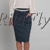 Одежда ручной работы. Ярмарка Мастеров - ручная работа 317:Прямая юбка карандаш с завышенной талией, юбка с принтом. Handmade.