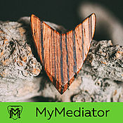 Музыкальные инструменты handmade. Livemaster - original item The mediator of the wood Zebrano True V. Handmade.
