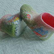 Работы для детей, ручной работы. Ярмарка Мастеров - ручная работа Тапочки домашние валяные. Handmade.