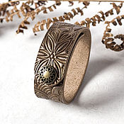 Украшения handmade. Livemaster - original item Gold Brown Leather Bracelet for Women. Handmade.