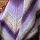 Shawl Lavender (Danish shawl traditional). Shawls. Brownie. My Livemaster. Фото №4