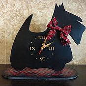 """Для дома и интерьера ручной работы. Ярмарка Мастеров - ручная работа Часы """"Скотч-терьер"""". Handmade."""