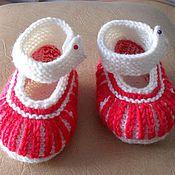 Работы для детей, ручной работы. Ярмарка Мастеров - ручная работа Пинетки- туфельки. Handmade.