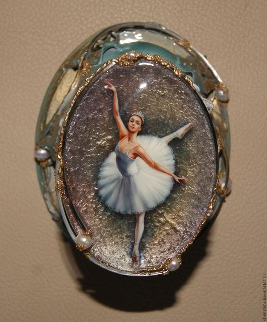 """Шкатулки ручной работы. Ярмарка Мастеров - ручная работа. Купить Шкатулка """"Балерина"""". Handmade. Комбинированный, балерина, перламутр натуральный"""