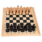 Активный отдых и развлечения handmade. Livemaster - original item Chess: a chess Board with 52 by 52 cm pieces.. Handmade.