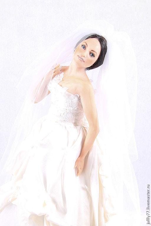 Коллекционные куклы ручной работы. Ярмарка Мастеров - ручная работа. Купить невеста. Handmade. Белый, интерьерная кукла, эксклюзивный подарок