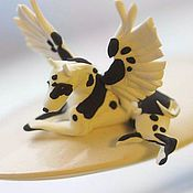 """Сувениры и подарки ручной работы. Ярмарка Мастеров - ручная работа фигурка """"крылатый дог"""" (статуэтка собаки породы дог). Handmade."""