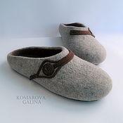 Обувь ручной работы handmade. Livemaster - original item Mens felted Slippers