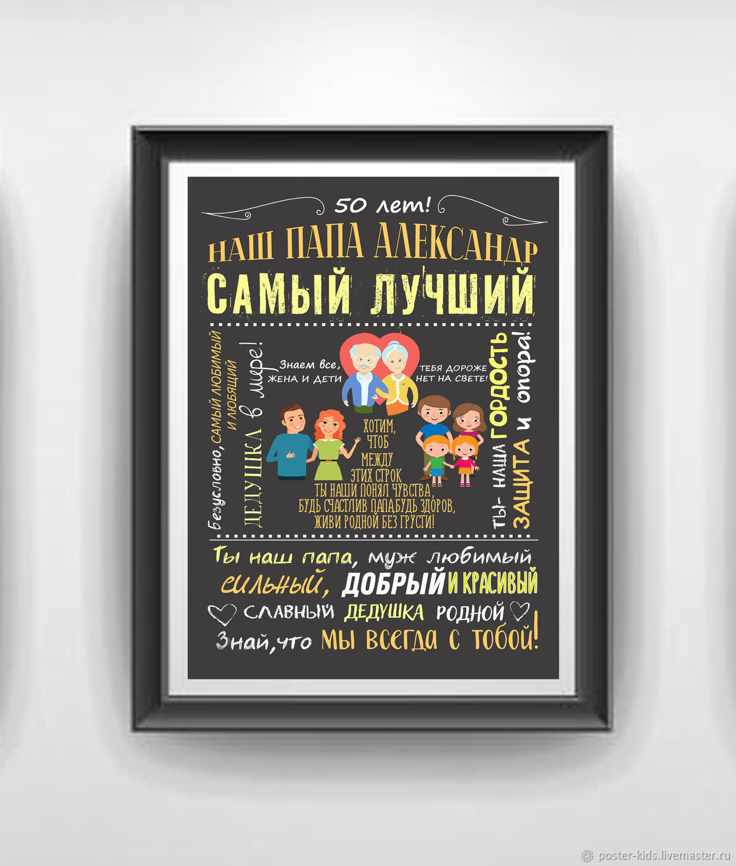 Плакат на день рождение дедушке