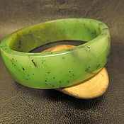 Украшения handmade. Livemaster - original item Bangle of solid jade .. Handmade.