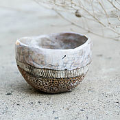 """Посуда ручной работы. Ярмарка Мастеров - ручная работа пиалы """"древние моря"""" раку керамика. Handmade."""