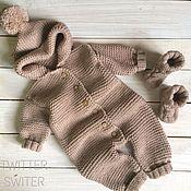 Комплекты одежды ручной работы. Ярмарка Мастеров - ручная работа Комбинезон для новорожденного. Handmade.