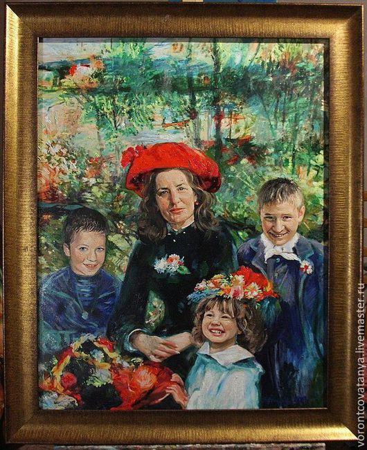 """Люди, ручной работы. Ярмарка Мастеров - ручная работа. Купить """"Бабушкины ягодки"""". Handmade. Семейный подарок, портрет на заказ"""