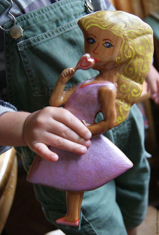 Сказочные персонажи ручной работы. Ярмарка Мастеров - ручная работа. Купить Авторская деревянная куколка. Handmade. Деревянная игрушка, волшебница