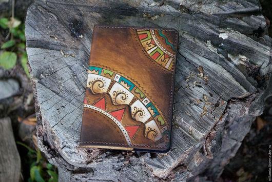 """Обложки ручной работы. Ярмарка Мастеров - ручная работа. Купить Обложка кожаная для паспорта """"Да-да-да"""". Handmade. Паспорт"""