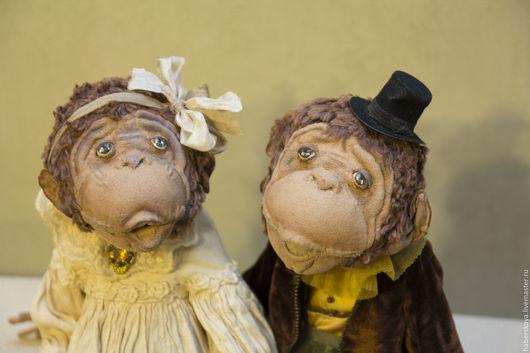 Коллекционные куклы ручной работы. Ярмарка Мастеров - ручная работа. Купить Мартышки. Handmade. Комбинированный, хаберская татьяна, символ года