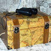Для дома и интерьера ручной работы. Ярмарка Мастеров - ручная работа Сундук пирата. Handmade.
