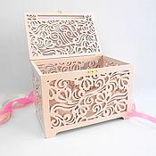 Свадебный салон handmade. Livemaster - original item Wooden wedding treasury for envelopes (family bank)). Handmade.