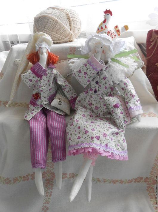 Куклы Тильды ручной работы. Ярмарка Мастеров - ручная работа. Купить Сонные ангелы. Handmade. Розовый, хлопок 100%