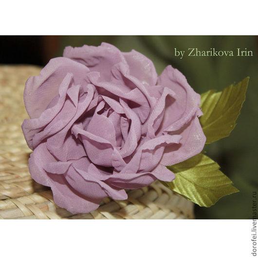 """Броши ручной работы. Ярмарка Мастеров - ручная работа. Купить Брошь роза """"Shoсking Blue"""". Handmade. Брошь цветок"""