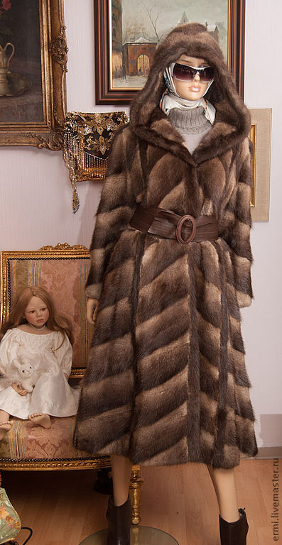 Верхняя одежда ручной работы. Ярмарка Мастеров - ручная работа. Купить Мускус. Ондатровое манто для леди шик  без размера. Handmade.