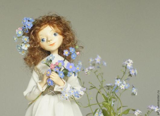 Коллекционные куклы ручной работы. Ярмарка Мастеров - ручная работа. Купить Незабудка Авторская кукла. Handmade. Бежевый, незабудка
