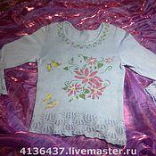 Одежда ручной работы. Ярмарка Мастеров - ручная работа Вязанная кофта Летнее настроение. Handmade.