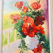 Картины и панно handmade. Livemaster - original item Oil painting. Sunny poppies.. Handmade.