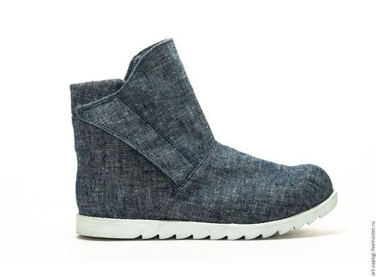 Обувь ручной работы. Ярмарка Мастеров - ручная работа. Купить Летние ботинки 8-317  (сб). Handmade. женская обувь