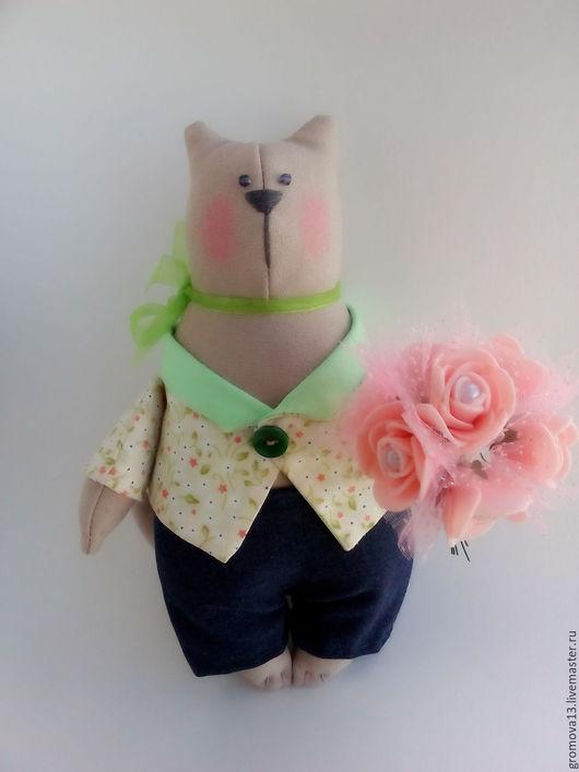 """Куклы Тильды ручной работы. Ярмарка Мастеров - ручная работа. Купить кот тильда """"Рейнольд"""". Handmade. Бежевый, кот тильда"""