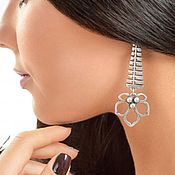 Earrings handmade. Livemaster - original item Leaf earrings, chestnut poseta long earrings. Handmade.