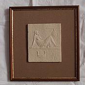"""Картины и панно ручной работы. Ярмарка Мастеров - ручная работа Рельеф керамический """" Женская баня"""" 2. Handmade."""