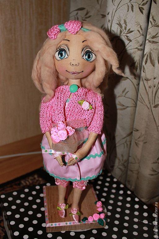 Куклы тыквоголовки ручной работы. Ярмарка Мастеров - ручная работа. Купить тыквоголовая кукла. Handmade. Розовый, подарок, шерсть для валяния