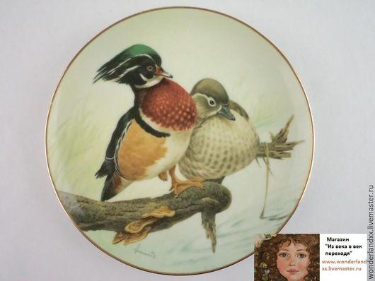 Винтажные предметы интерьера. Ярмарка Мастеров - ручная работа. Купить Коллекционная тарелка c подвесом, Англия, 80е. Handmade. Комбинированный