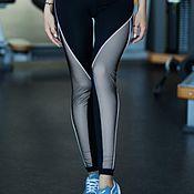 Леггинсы ручной работы. Ярмарка Мастеров - ручная работа Спортивные леггинсы Designed for fitness Pro High Waist White. Handmade.