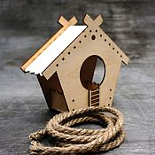 Для дома и интерьера handmade. Livemaster - original item A bird feeder from a tree house kid for painting. Handmade.