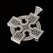Подвеска ручной работы. Ярмарка Мастеров - ручная работа Серебряный кулон оберег Кельтский крест. Handmade.
