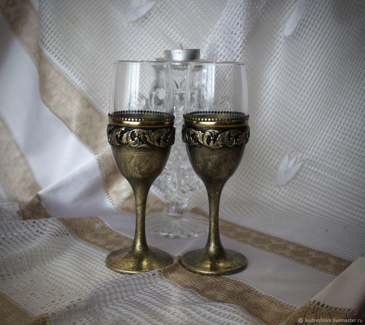 Wine glasses gift grace in bronze, 2 PCs, Wine Glasses, Frolovo,  Фото №1