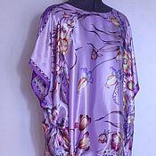 Одежда ручной работы. Ярмарка Мастеров - ручная работа Туника- блузка из натурального шелка. Handmade.