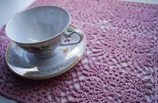 """Текстиль, ковры ручной работы. Ярмарка Мастеров - ручная работа. Купить Салфетка """"Розовые лепестки"""". Handmade. Бледно-розовый, розовый"""