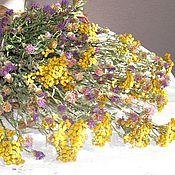 Картины и панно ручной работы. Ярмарка Мастеров - ручная работа Фотоэтюд. Сухоцветы в плетеной корзине. Handmade.