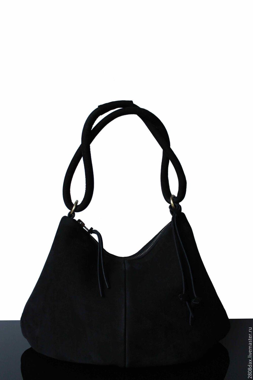 d8a6fc3b5762 Женские сумки ручной работы. Ярмарка Мастеров - ручная работа. Купить  Черная замшевая сумка, ...