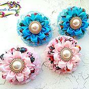 Работы для детей, handmade. Livemaster - original item Bows for hair kanzashi. Handmade.