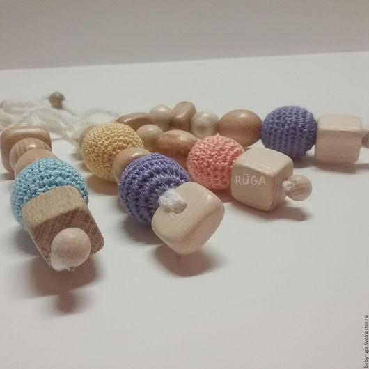 Развивающие игрушки ручной работы. Ярмарка Мастеров - ручная работа. Купить Грызунок-брелок. Handmade. Разноцветный, прорезыватель, лён