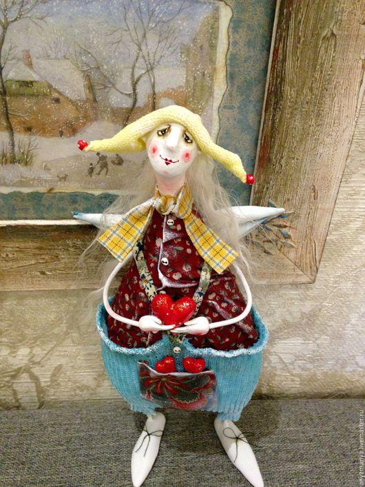 Коллекционные куклы ручной работы. Ярмарка Мастеров - ручная работа. Купить Ангел в желтой шапочке. Handmade. Комбинированный, ручная работа