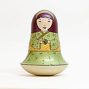 Подарки к праздникам ручной работы. Ярмарка Мастеров - ручная работа Кукла-неваляшка с кубиком Рубика. Handmade.