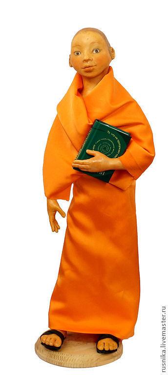Коллекционные куклы ручной работы. Ярмарка Мастеров - ручная работа. Купить Кукла Юноша Буддист. Handmade. Рыжий, смуглый, монах