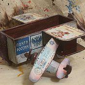 Подарки к праздникам handmade. Livemaster - original item Russian Santa`s airplane,  candy-box. Handmade.