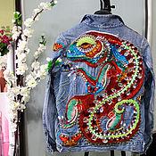 Одежда handmade. Livemaster - original item Denim jacket Salamander. Handmade.